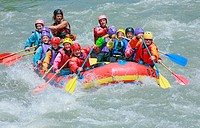 River rafting on the Salzach river. Austria