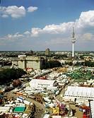 Geo , BRD, Hamburg, Hamburger Dom, Volksfest, Überblick, Fernsehturm i Hgr ,