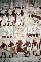 geography/travel, people, men bringing tribute, mural painting, tomb of Nakht, Qurna, circa 1425 BC, 18th dynasty, taxes, ancient world, New Kingdom, ...