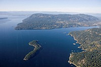 Some of the Channel Islands between Vancouver Island and the mainland
