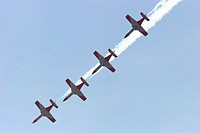Patrulla &#193;guila, Spanish Air Force aerobatic demonstration team, flying C-101 Aviojet airplanes
