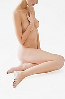 Nude young woman