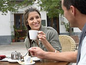 Couple having coffee