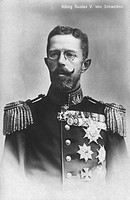 Gustaf V, 16 6 1858 - 29 10 1950 King of Sweden 8 12 1907 - 29 10 1950, portrait, Germany, 1908, Bernadotte, 20th century,