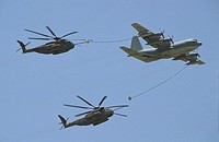 KC130 refuels CH53 Sea #F0F