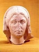 Julia Soaemias Bassiana, circa 180 - 11 3 222 BC, Roman Empress 218 - 222, portrait, bust, marble, 3rd century BC, Rheinisches Landesmuseum Trier, mot...