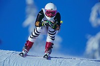 Gerg, Hilde, * 19 10 1975, German athlete, full length, Winter Olympic, Olympic Games, Lillehammer, 1994, skier, Super G, helmet, sport, winter sport,