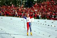 Daehlie, Björn, * 16 6 1967, norw Sportler Ski Nordisch, Ganzfigur, bei den Olympischen Winterspielen, Lillehammer, 1994, Skilangläufer, Langlauf, Oly...
