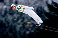 Thoma, Dieter, * 19 10 1969, German athlete ski jumping, full length, ski jump, Oberstdorf, 25 10 1990, ski jumper, winter sport,