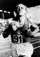 Zatopek, Emil, 16 9 1922 - 22 11 2000, Czech athlete marathon, world record, 5000 m, stadion Colombes, Paris, France, 30 5 1954, 1950s, 50s, sport, sp...