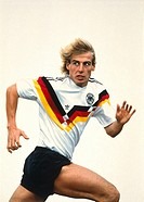 Klinsmann, Jürgen, * 30 7 1964, German athlete soccer / football, half length, 1988, sport, sports, jersey, tricot, shirt, Jurgen, Juergen,