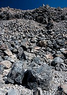 Obsidian dome, eastern California  This pyroclastic material formed when slow-moving, silica-rich lava cooled rapidly  It was extruded around 550 year...