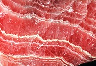 Rhodochrosite mineral  Rhodochrosite is a manganese carbonate mineral that is a rose-red colour when pure, as here  It is mined as a source of mangane...