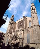 Santa Maria del Mar church, Barcelona. Catalonia, Spain
