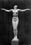 National Socialism/Nazism, fine arts, sculpture, ´Frauenakt´, statue by Josef Thorak 1889 - 1952, Haus der Deutschen Kunst, Munich, circa 1940, nude w...