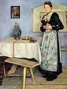 National Socialism/Nazism, fine arts, ´Die Bauernbraut´, painting by Sepp Hilz 1906 - 1967, 1940, Haus der Deutschen Kunst, Munich, farmers bride, cos...