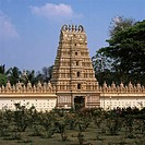 India, Mysore, temples Sri Shweta Varahaswami, Asia, 'city of the sandalwood', temple, Bhuvaneshvari, Gopuram, construction, architecture, culture, si...