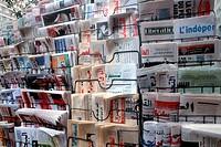 Morocco, Casablanca, newspaper-pillars, Moroccan newspapers