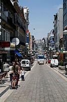 Portugal, postage, street Sta  Catarina, pedestrians, traffic,