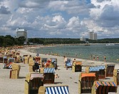 Germany, Schleswig-Holstein, models tourists, Baltic sea, sea, beach, vacationers, sandy beach, relaxation, recuperation, tourism, swimmers, Timmendor...