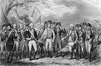 The British surrendering their arms to General Washington 1781  Engraved by J Stephenson after J F Renault