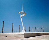 Communications tower by Santiago Calatrava. Montjuich Olympic area. Barcelona. Spain