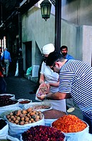 Western tourists on the spice souq in Dubai, UAE (thumbnail)