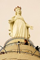 Statue of Virgin Mary in Harissa, Lebanon