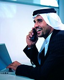 Saudi Arabian businessman in the office
