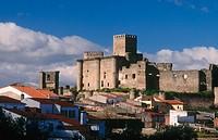 Castle. Belvís de Monroy. Cáceres province. Extremadura. Spain.