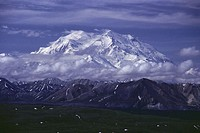 Panoramic view of Mount McKinley, Denali National Park, Alaska, USA