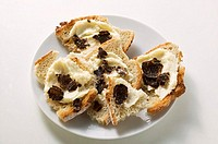 White bread with truffle spread