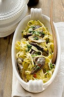 Tagliatelle with ceps