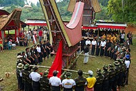 Indonesia, Sulawesi, Tana Toraja, funeral ceremony