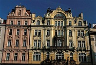 Czech Republic, Prague, Staromestske Namesti Square, Baroque style facades