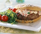 Provencal veal burger