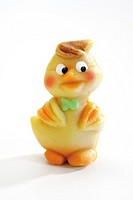 Marzipan chick, close-up