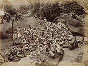 Albumen print by Skeen & Co, of a scene in what is now Sri Lanka