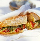 Lobster and cucumber sandwich