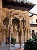 Courtyard of the Lions, Alhambra. Granada. Spain