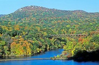 Hudson River and Bear Mountain Bridge
