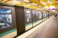 Metro Train, Paris, France
