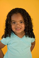 Studio portrait of a African American girl