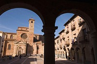 Plaza Mayor and Cathedral. Sigüenza. Guadalajara province, Castilla-La Mancha, Spain