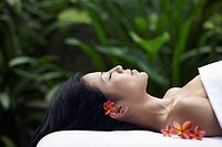 Serene Woman on Massage Table