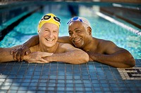 Two Senior Men at Poolside (thumbnail)