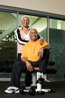 Senior Couple at a Health Club (thumbnail)