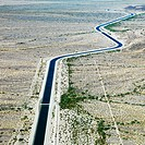Irrigation Channel Through Desert