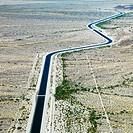 Irrigation Channel Through Desert
