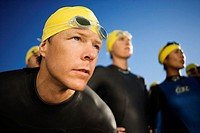 Triathlete Focusing Before Race